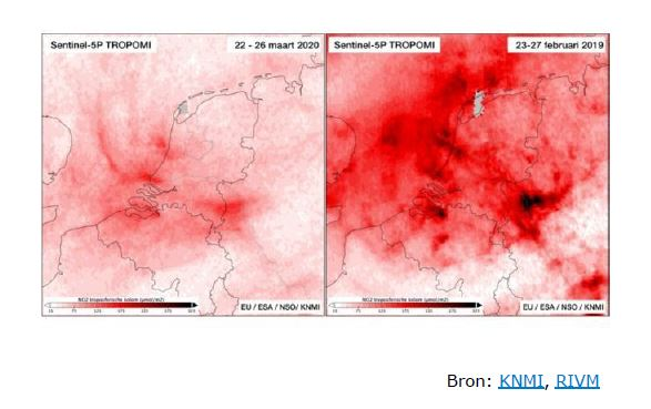 Stikstofdioxide voor en tijdens corona in NL
