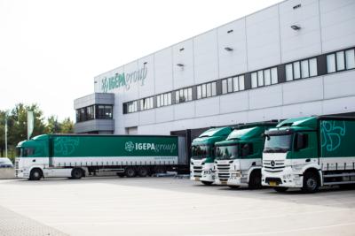 Vrachtwagens van Igepa